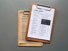Wooden Menu Holder Board from Oak for Restaurant or Cafe Menu Board Design, Menu Design, Cafe Design, Design Design, Graphic Design, Snack Bar, Cafe Menu Boards, Restaurant Branding, Restaurant Ideas