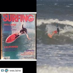 Check out @mericanbrand #teamrider @wes.laine with @repostapp.  Left: my dad Bells Beach cover of #surfingmagazine 1983  Right: me yesterday  #samestyle #1983 #wsl #bellsbeach #weslaine #dna #coastaledge #cisurfboards #dakine  Left photo by: Aaron Chang @theaaronchang by mericanbrand http://ift.tt/1KnoFsa