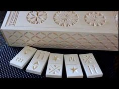174 My Chip Carving - domino set, get the pattern and project at www.MyChipCarving.com, 866-444-6996