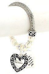 Desinger Inspired Rhodium Tone Half Mesh Chain with Pearls & Dangle Heart Bracelet, 1 Corinthians 13 Hail Mary Gifts, http://www.amazon.com/dp/B008JKVOS0/ref=cm_sw_r_pi_dp_MXxaqb1FCR5J3