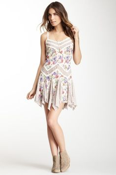 Free People Mixed Print Slip Dress on HauteLook
