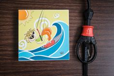 Digital kitesurfing painting kiteboarding picture on by OneCurl