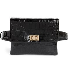 Free shipping and returns on Mali + Lili Aria Convertible Vegan Leather Belt Bag at Nordstrom.com. Whether worn at the waist, across the chest or attached to the chain strap, this croc-embossed vegan-leather bag is a street-style standout. Tumi Backpack, Leather Belt Bag, Vegan Leather, Crocs, Convertible, Nordstrom, Lily, Chanel, Shoulder Bag