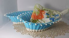 Vintage Set of Two Plastic and Woven Vinyl by TheTableSetting