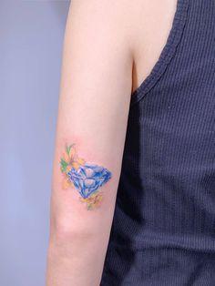 Mini Tattoos, Black Tattoos, Diamond Tattoos, Couple Tattoos, Mandala Tattoo, Watercolor Tattoo, Tatoos, Couple Tattoos Love, Tattoos For Couples