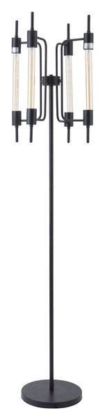 Gisborne Floor Lamp in Rust with 4 Lights