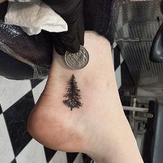 #tinytattoos #treetattoos #tattooedgirls #ankletattoos #tattoosofadelaide #tattoosofinstagram #tattoosofaustralia #inkjecta #blacktattoos #smalltattoos
