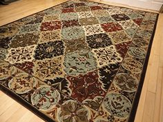 Contemporary Rug Multi Colored Area Rugs 8x11 Red 5x8 Living Room Carpet 8x10 Burgundy Modern Large Amazon