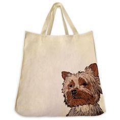 Yorkshire Terrier Tote Bag - Color Design