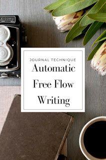 Automatic Free Flow Writing. | Just Write #JustPickUpANotepad