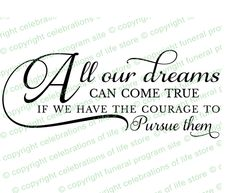 Inspirational Quotes About Life: All Our Dreams Can Come True Pre Designed Script Elegant Title