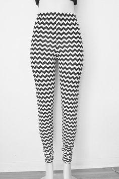 Chevron Knit Leggings Womens Clothing Pants Black by FineThreadz
