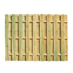 6 ft. x 8 ft. Pressure Treated Dog Ear Shadowbox Fence Panel-118830 at The Home Depot