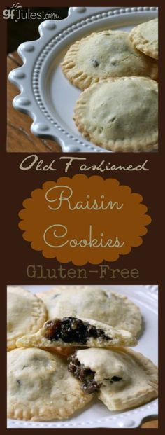 This gluten free Raisin Filled Cookie recipe will bring back many fond memories of old-fashioned cookies at the holidays! Hand-held pockets of raisiny-yum. Gluten Free Pie, Best Gluten Free Recipes, Gf Recipes, Gluten Free Cookies, Gluten Free Baking, Gluten Free Desserts, Cookie Recipes, Dessert Recipes, Raisin Filled Cookie Recipe