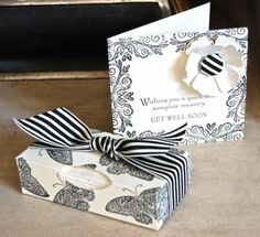 Stampin Up ideas and supplies from Vicky at Crafting Clares Paper Moments: Mini tissue holder and get well card Tissue Paper Holder, Tissue Paper Crafts, Scrapbook Paper Crafts, Scrapbooking, Gift Envelope, Get Well Cards, Craft Items, Craft Fairs, Homemade Gifts