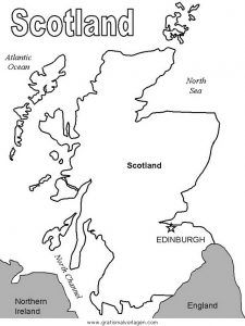 Schottland Ausmalbilder Ausmalbilder Schottland Mit Bildern