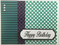 gray card base   polka dot = 4 x 2 1/2 black = 4 x 1 1/4 stripe = 4x 1 5/8