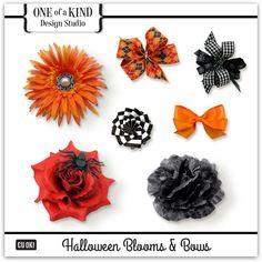 Halloween Blooms & Bows | CU/Commercial Use #digital #scrapbook #design tools at CUDigitals.com #digitalscrapbooking
