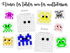 Mes élèves et moi-même sommes totalement tombés sous le charme des multiplidessins de Monsieur Mathieu. Le principe est simple : en coloriant les résultats d'une table de multiplication donné…