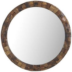 "Pearwood Ring Mirror, 36"" diameter. $150, on sale 