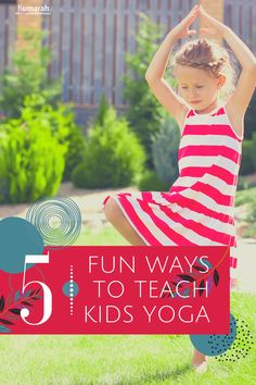 Kids yoga tips for teaching yoga and mindfulness to kids anywhere. 5 fun ways to teach kid's yoga to a group of students | These ideas can be used in a school, a studio, or at an after-school program. Get tips and tricks and have fun teaching yoga for kids!