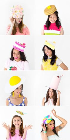 Hold On To Your Hats: A Kentucky Derby Party! - Studio DIY - - Find eight tutorials for DIY Kentucky Derby hats plus ideas for throwing a unique and colorful Kentucky Derby party with your friends! Crazy Hat Day, Crazy Hats, Silly Hats, Funny Hats To Make, Jester Hat, Derby Party, Hat Party, Elmo Party, Mickey Party