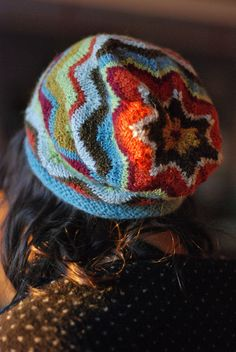 multicolored crochet hat