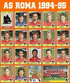 AS Roma stickers for 1994-95.