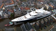 Sailing a Super Yacht through the Dutch Canals