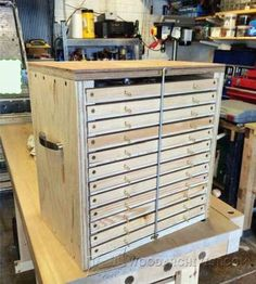 Tool Storage System Plans - Workshop Solutions Projects, Tips and Tricks - Woodwork, Woodworking, Woodworking Plans, Woodworking Projects Woodworking Tools For Beginners, Woodworking Shop, Woodworking Plans, Woodworking Projects, Workshop Storage, Workshop Organization, Tool Storage, Tool Box Cabinet, Shop Cabinets