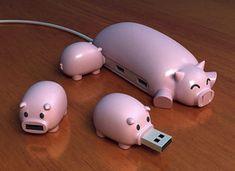 """Una deliziosa presa USB multipla con i suoi """"cuccioli"""", tante piccole chiavette USB da utilizzare anche in modo indipendente"""
