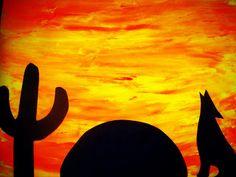 Preschool Ideas by Alicia : Wild Animal's- Day 12 desert craft Vorschulideen von Alicia: Wild Animal's-Day 12 Desert Craft Desert Art, Desert Sunset, Desert Ideas, Animal Crafts For Kids, Art For Kids, Kids Crafts, Kid Art, Wild West Crafts, Desert Crafts