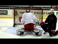 It is important for young goaltenders to try to achieve a nearly perpendicular planted push-leg and to focus on being patient when establishing a powerful push.   Goalrobber Drill of the Week #18 (Pushing in the Butterfly)