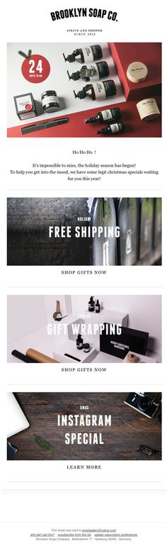 Email newsletter design ideas & examples for your inspiration.