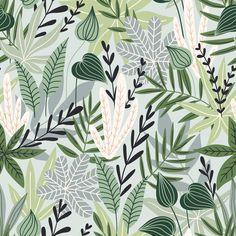 Botanical Leaves Wallpaper - 25W x 225H