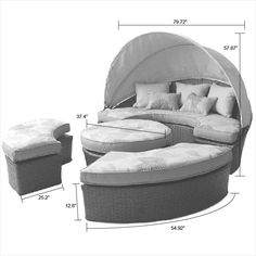 BuildDirect – Conversation Sets - Wicker Daybeds – Naples Canopy DayBed