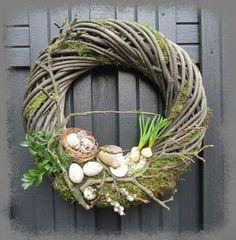Grapevine Wreath, Grape Vines, Easter Eggs, Wreaths, Spring, Floral, Easter Decor, Diy, Crafts