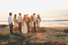 Beachside Boheme / Ron & Hannah / Real Wedding / Photography: Amanda Christine / View full post on The LANE