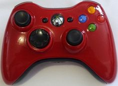 Red Xbox 360 Controller / Standard Buttons