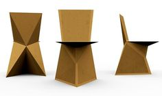 DIY : A cardboard chair  I'm not overweight but no way in hell would I sit on a cardboard chair.