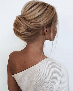 39 Wedding Hairstyles For Medium Hair, Peinados, wedding hairstyles for medium hair elegant french roll on blonde bride oksana_sergeeva_stilist. Wedding Hairstyles For Medium Hair, Bride Hairstyles, Easy Hairstyles, Straight Hairstyles, Celebrity Wedding Hairstyles, Hairstyles Medium Hair, Hairstyle Ideas, Straight Hair Updo, Long Hair Dos