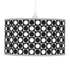 Retro Abstract Black and White Custom Lamp