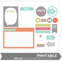 Say Cheese Printables by Hello Forever
