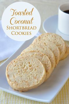 Buttery shortbread is one of life's simple pleasures and these Toasted Coconut Shortbread Cookies add one more layer of flavour to this cookie classic.
