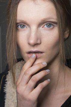 Sally Lapointe Nude manicure Fall 2014 Winter 2015