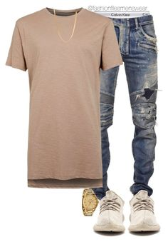 """Out"" by highfashionfiles on Polyvore featuring Calvin Klein Underwear, Balmain, Topman, Nixon, ASOS, men's fashion and menswear"