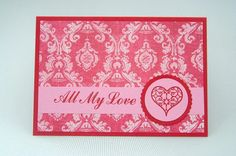 All My Love Red Filigree Heart Valentines by LaurasPaperCreations, $3.50