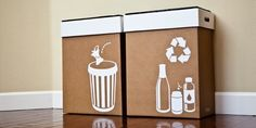 Hobnob Pop-up Party Bins are easy to assemble, smart-looking solutions for the large volume of trash that accumulates during a party.