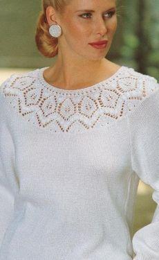 Вязание ажурного узора Sweater Knitting Patterns, Lace Knitting, Knitting Stitches, Knit Patterns, Crochet Lace, Clothing Patterns, Tricot D'art, Knitted Baby Cardigan, Knitwear Fashion