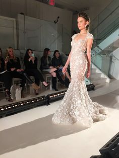 The 5 Dreamiest Wedding Gowns from New York Bridal Fashion Week || Bridal stylist Lindsay Kenna gives us a front row seat to the hottest trends from the Spring 2016 runways. || Pallas Couture || Lazaro